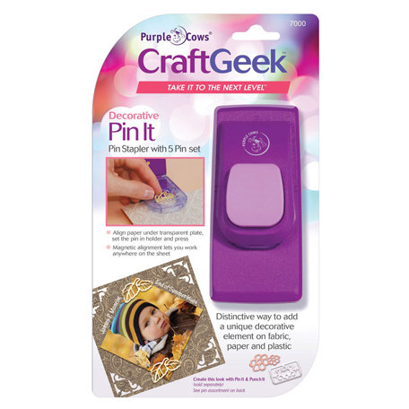 Purple Cows Incorporated - Craft Geek - Pin It - Anywhere Decorative Stapler