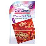 Purple Cows Incorporated - Craft Geek - Pin It - Pins - Winter Hearts