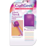 Purple Cows Incorporated - Craft Geek - 9 Blade Trim It - Head Replacement