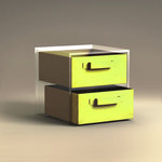 Purple Cows Incorporated - iCube Storage  - 2 Half Size Fabric Drawers - Pistachio, CLEARANCE