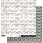 Penelope Dee - Mother of Pearl Collection - 12 x 12 Double Sided Paper - Devoted