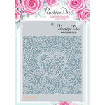 Penelope Dee - Mother of Pearl Collection - Stencil - Roses and Heart Cut Out