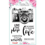Penelope Dee - Photogenic Collection - Clear Acrylic Stamps - Camera and Sentiments