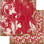 The Paper Element - Tinsel Town Collection - 12 x 12 Double Sided Paper - Sugar Plum, BRAND NEW