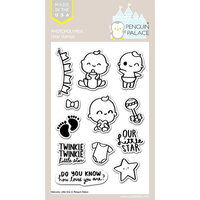 Penguin Palace - Clear Photopolymer Stamps - Welcome Little One