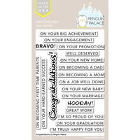 Penguin Palace - Clear Photopolymer Stamps - Congratulations