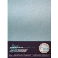 Penguin Palace - 8.5 x 11 Heavyweight Premium Cardstock - Shimmery Ocean