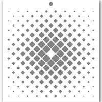 Penguin Palace - 6 x 6 Stencils - Cyber Wallpaper