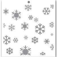 Penguin Palace - 6 x 6 Stencils - Crystal Snowflakes