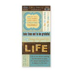 The Paper Loft - Easy Breezy Collection - Cardstock Pieces - Life