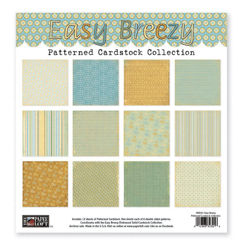 The Paper Loft - Easy Breezy Collection - 12 x 12 Patterned Cardstock Pack