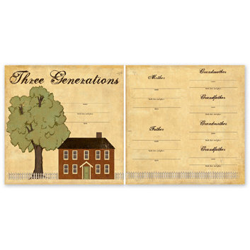 The Paper Loft - For the Record Collection - 12 x 12 Double Sided Paper - Three Generations