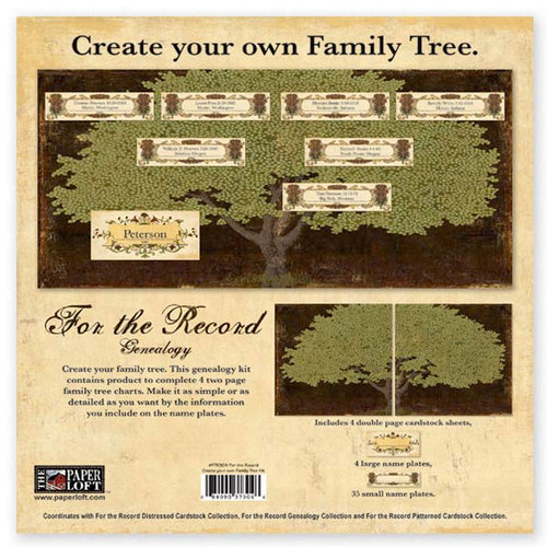 The Paper Loft - For the Record Collection - Family Tree Kit