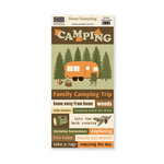 The Paper Loft - Gone Camping Collection - Cut Apart Cardstock Pieces - Family Camping