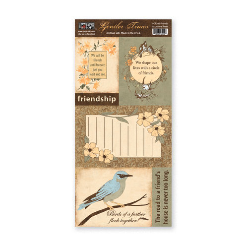 The Paper Loft - Gentler Times Collection - Cardstock Pieces - Friends