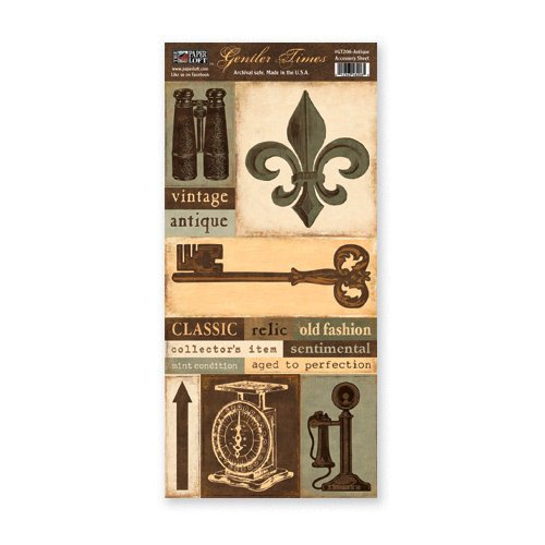 The Paper Loft - Gentler Times Collection - Cardstock Pieces - Antique