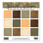 The Paper Loft - Gentler Times Collection - 12 x 12 Distressed Cardstock Pack