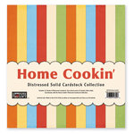 The Paper Loft Collection - Home Cookin Collection - 12 x 12 Distressed Cardstock Pack