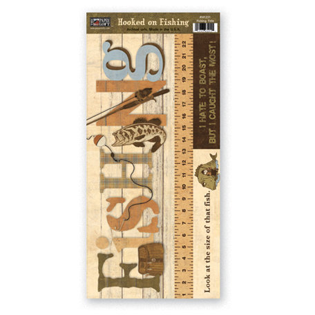The Paper Loft - Hooked on Fishing Collection - Cardstock Pieces - Fishing Title