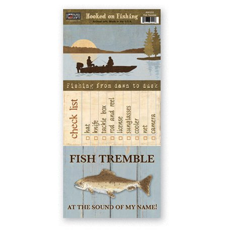 The Paper Loft - Hooked on Fishing Collection - Cardstock Pieces - Fish Tremble