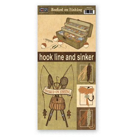 The Paper Loft - Hooked on Fishing Collection - Cardstock Pieces - Line and Sinker