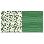 The Paper Loft - A Holly Jolly Christmas Collection - 12 x 12 Double Sided Paper - Reindeer Games