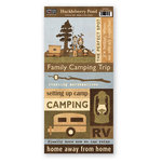 The Paper Loft - Huckleberry Pond Collection - Cardstock Pieces - Family Camping Trip