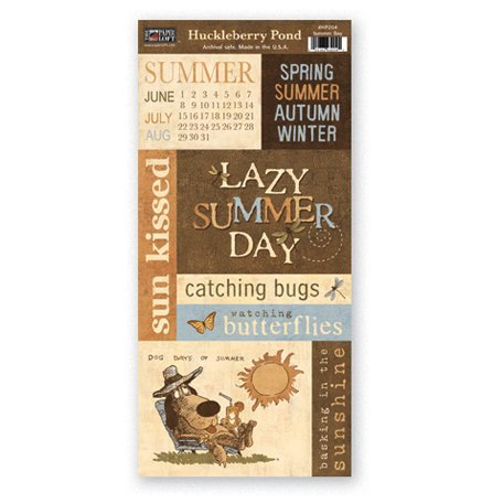 The Paper Loft - Huckleberry Pond Collection - Cardstock Pieces - Summer Day
