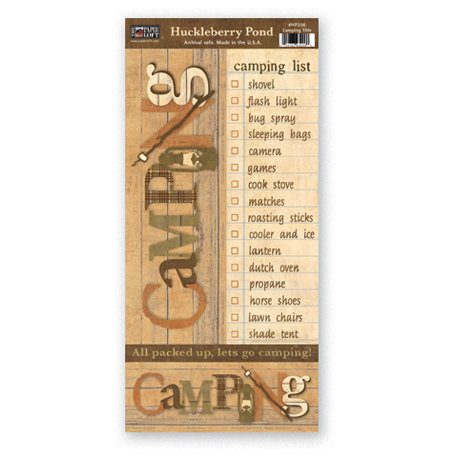 The Paper Loft - Huckleberry Pond Collection - Cardstock Pieces - Camping Title