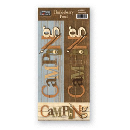The Paper Loft - Huckleberry Pond Collection - Cardstock Pieces - Camping Mini Title