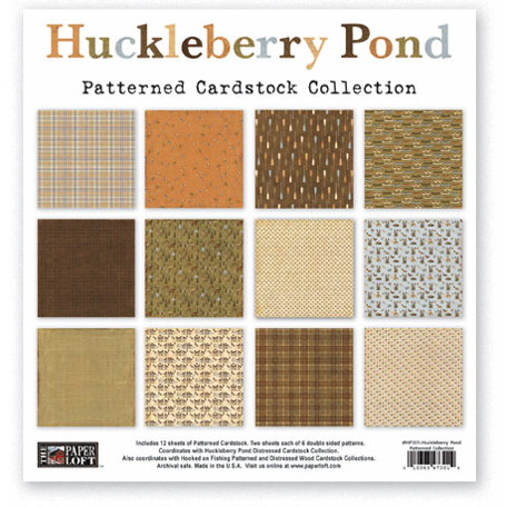 The Paper Loft - Huckleberry Pond Collection - 12 x 12 Patterned Cardstock Pack