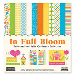 The Paper Loft Collection - In Full Bloom Collection - 12 x 12 Patterned and Distressed Cardstock Pack