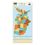 The Paper Loft - On the Go Collection - Cardstock Pieces - Map