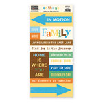 The Paper Loft - On the Go Collection - Cardstock Pieces - Family