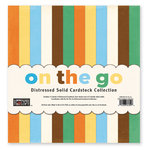 The Paper Loft - On the Go Collection - 12 x 12 Distressed Cardstock Pack