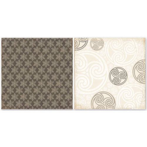 The Paper Loft - Shades of Gray Collection - 12 x 12 Double Sided Paper - Silver Lining