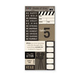 The Paper Loft - Shades of Gray Collection - Cardstock Pieces - Star