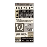 The Paper Loft - Shades of Gray Collection - Cardstock Pieces - Destiny