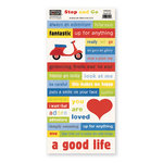 The Paper Loft Collection - Stop and Go Collection - Cardstock Pieces - Good Life