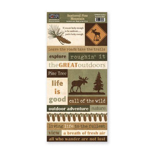 The Paper Loft - Scattered Pine Mountain Collection - Cardstock Pieces - Outdoor