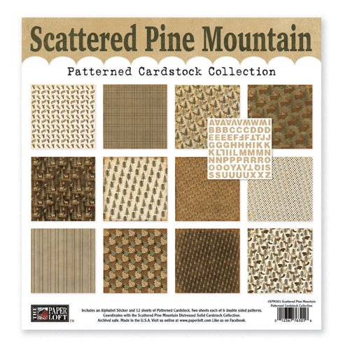 The Paper Loft - Scattered Pine Mountain Collection - 12 x 12 Patterned Cardstock Pack