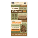 The Paper Loft - The Great Outdoors Collection - Cardstock Pieces - Adventure