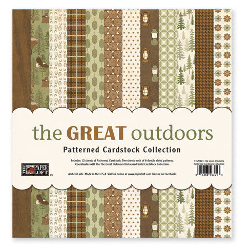 The Paper Loft - The Great Outdoors Collection - 12 x 12 Patterned Cardstock Pack