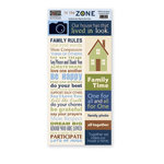 The Paper Loft - In the Zone Collection - Cardstock Pieces - Our House