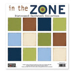 The Paper Loft - In the Zone Collection - 12 x 12 Distressed Cardstock Pack