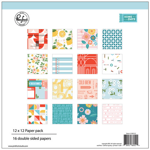 Pinkfresh Studio - Some Days Collection - 12 x 12 Collection Paper Pack