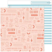 Pinkfresh Studio - Some Days Collection - 12 x 12 Double Sided Paper - One More Cup