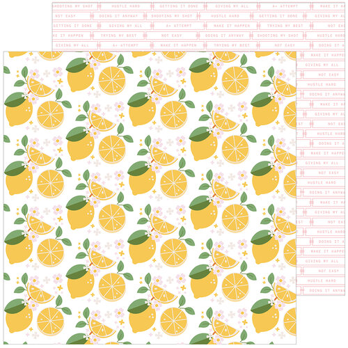 Pinkfresh Studio - Some Days Collection - 12 x 12 Double Sided Paper - Make Lemonade