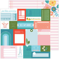 Pinkfresh Studio - Some Days Collection - 12 x 12 Double Sided Paper - What A Day