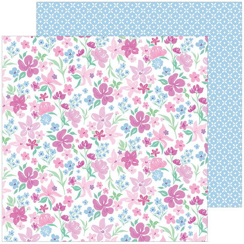 Pinkfresh Studio - Keeping It Real Collection - 12 x 12 Double Sided Paper - Deep Breath